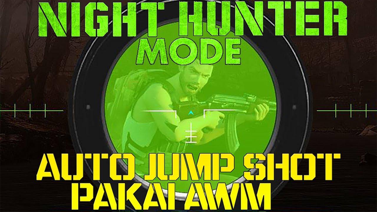 HIGHLIGHT NIGHT HUNTER MODE - AUTO NGAMUK PAKAI AWM! LANGSUNG JAGO JUMPSHOT! FREE FIRE