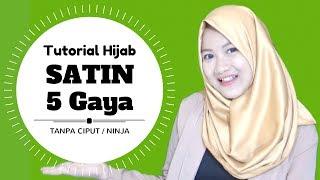 Tutorial Hijab Terbaru Satin 5 Gaya Tanpa Ciput Ninja Simpel Terbaru Nmy Hijab Tutorials Youtube
