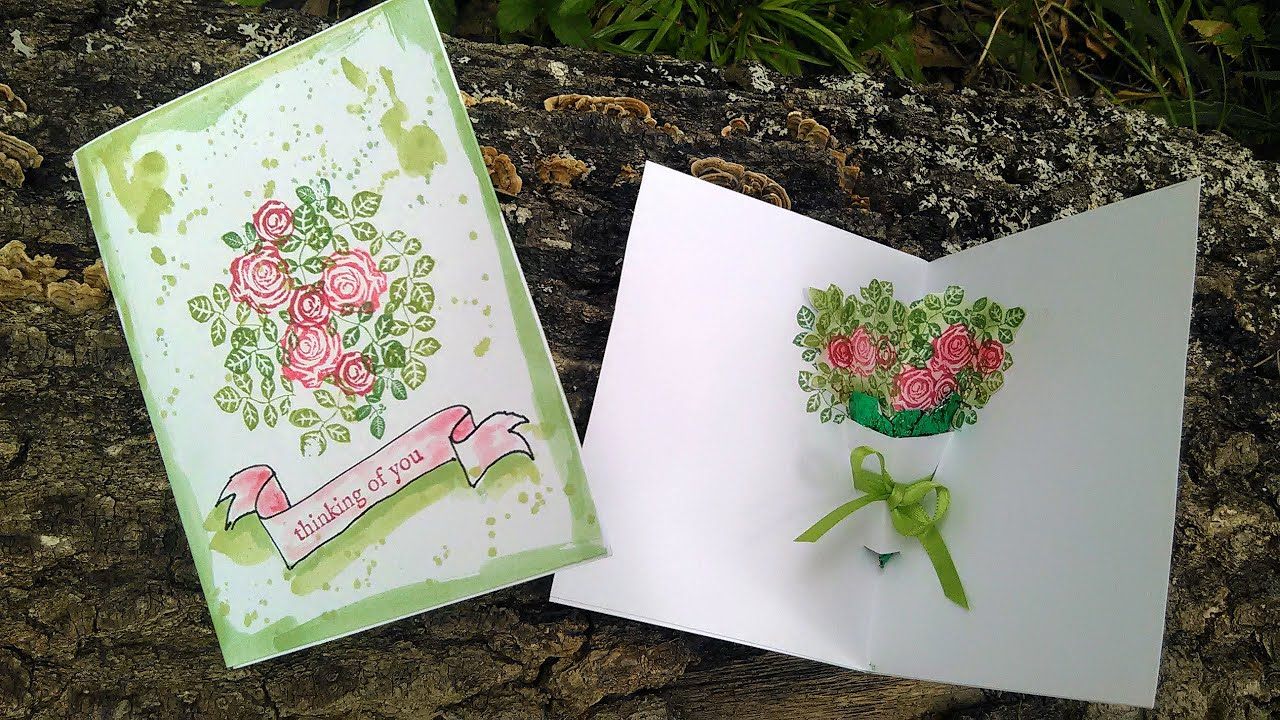 Stamp School: Easy Pop-Up Bouquet Card {no Special Tools