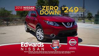 Edwards Nissan - 2018 Rogue - Zero Down!