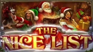 The Nice List Casino Game - All Star Slots(Available at All Star Slots online casino: https://www.allstarslots.com/ See promotions at: https://www.allstarslots.com/promotions The Nice List from Real Time ..., 2015-12-10T17:14:57.000Z)