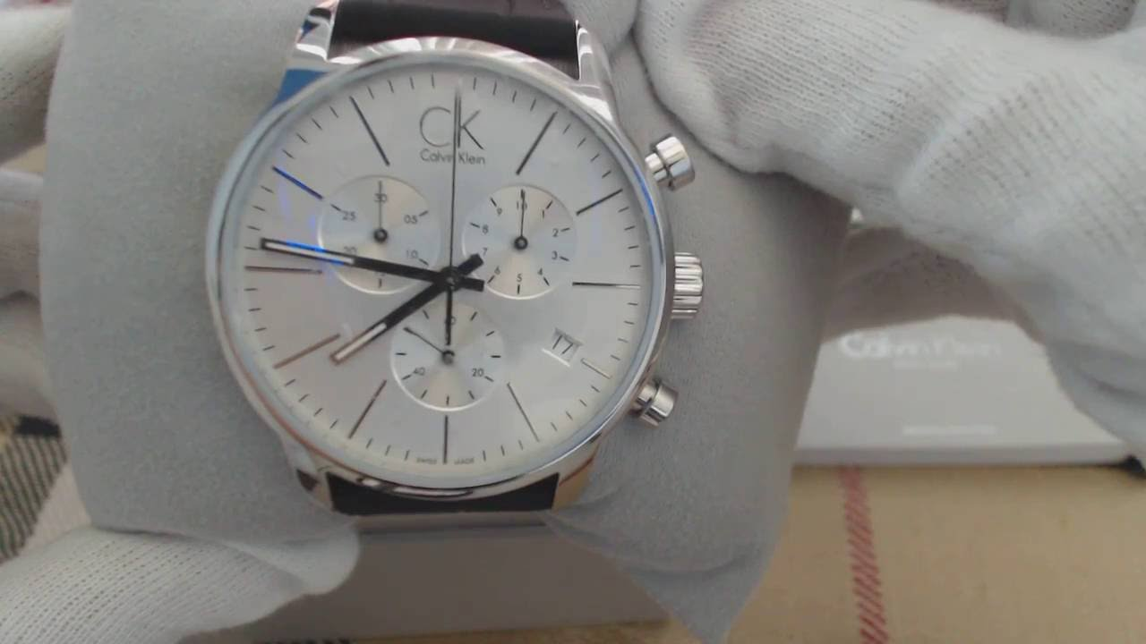 b2c0296d0 Men's Calvin Klein ck City Chronograph Dress Watch K2G271C6 - YouTube