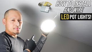 How To Install Pot Lights In Living Room Ceiling   Thin Recessed LED Dimmable Lights For Beginners!