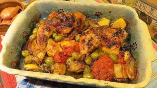RECETTE : Cuisses de POULET rôties au four Citron Olives Mère Mitraille