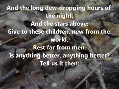 A Faery Song  William Butler Yeats read  Farnham Town Crier