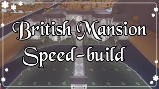 Bloxburg - British Mansion Speed-build (Exterior)
