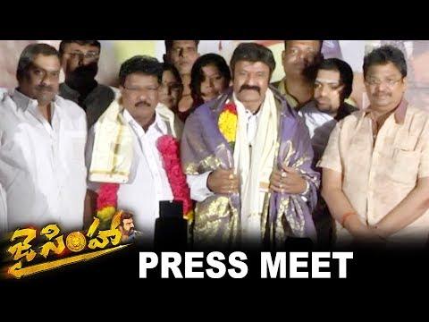 Jai Simha Movie Press Meet - Balakrishna,...
