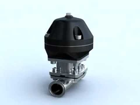 Pneumatic diaphragm valve youtube pneumatic diaphragm valve ccuart Choice Image