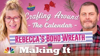 Make That Unconventional Holiday Boho Wreath You've Always Wanted - Making It
