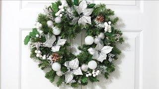 NEW!! DIY Christmas Wreath 2017|Winter Wonderland