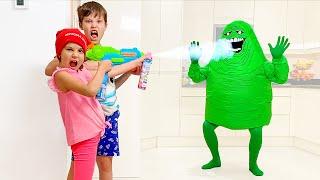 Max and Katy VS Snail Blob