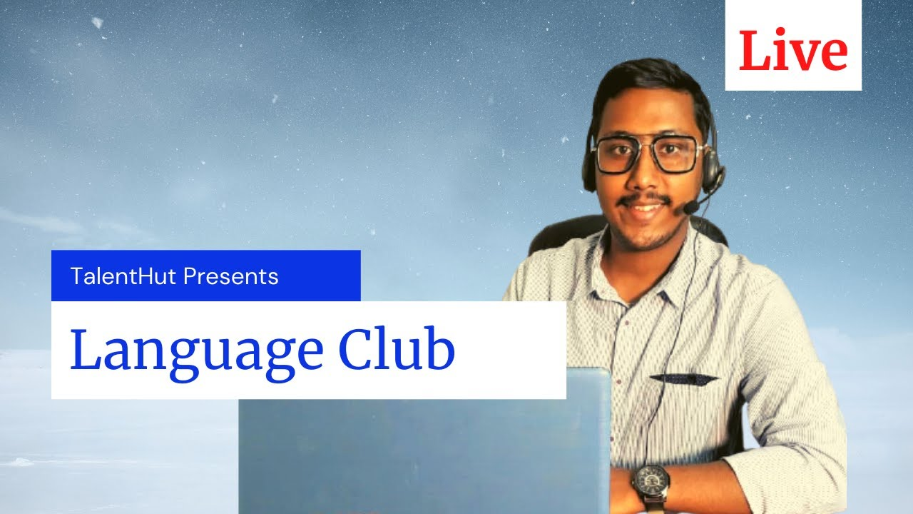 Live Class-20।  Evening Language Club | Learn English with TalentHut