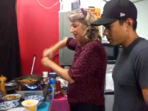 Jennie Cooks with the Jeremy Ray Valdez of Mission Park