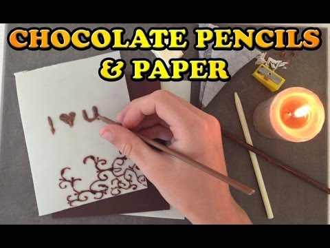 Love Chocolate Paper and Pencils Easy Dessert HOW TO COOK THAT Ann Reardon