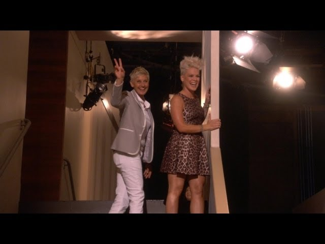 Exclusive! Pink and Ellen Greet the Riff Raff