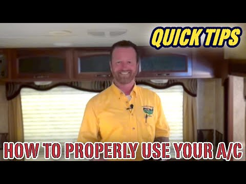 How to Properly Use The Air Conditioner (AC) in Your Camper | Pete's RV Quick Tips (CC)