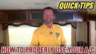 Video How to Properly Use The Air Conditioner (AC) in Your Camper | Pete's RV Quick Tips (CC) download MP3, 3GP, MP4, WEBM, AVI, FLV Agustus 2018