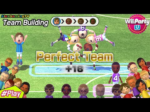 Wii Party U -Team Building (Master CPU, Eng Sub) Player Alex ( First Perfect Team!! )