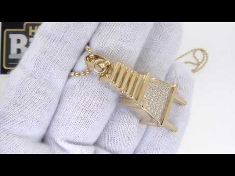 Gold Hip Hop Plug Pendant | Stainless Steel 3D Bling Bling Jewelry