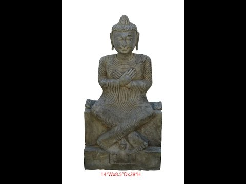 Unique Chinese Antique Hand Carving Sitting Buddha Statue WK2540