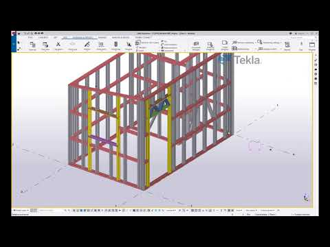 Workflow from Tekla Structures BIM Software to Howick Frame Manufacturing