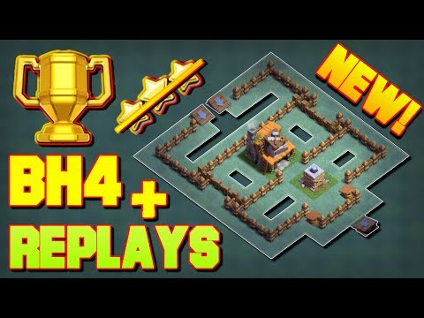 Builder Hall 4 Base / BH4 Builder Base + Defense Replays / Base Layout | Clash Of Clans