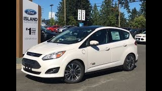 2017 Ford C-Max Energi Titanium W/ fixed Panoramic Roof Review Island Ford