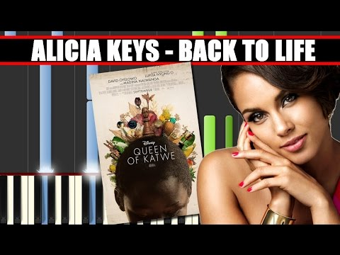 BACK TO LIFE (Alicia Keys || QUEEN OF KATWE) Piano Tutorial / Cover SYNTHESIA + MIDI File