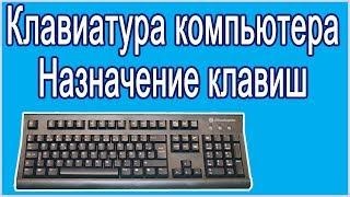 Клавиатура компьютера.  Назначение клавиш.
