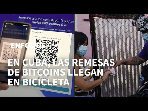 Las remesas con bitcoins llegan a Cuba montadas en bicicleta | AFP