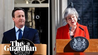 Cameron said resignation was a 'painful moment' but was it? The two PM speeches compared