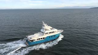 Northern Marine Expedition Trawler Yachts underway.