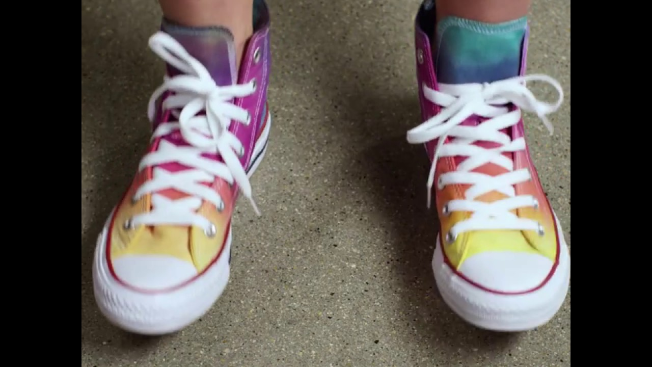 6ad68516f33a How to Tie Dye Your Shoes - YouTube