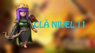 PRIMEIRO CLÃ LEVEL (NIVEL)11 DO MUNDO CLASH OF CLANS