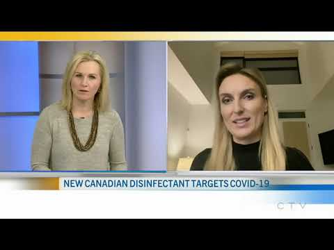 12/18/2020 - Biosenta live on CTV News Ottawa with true™ disinfectant targeting COVID-19