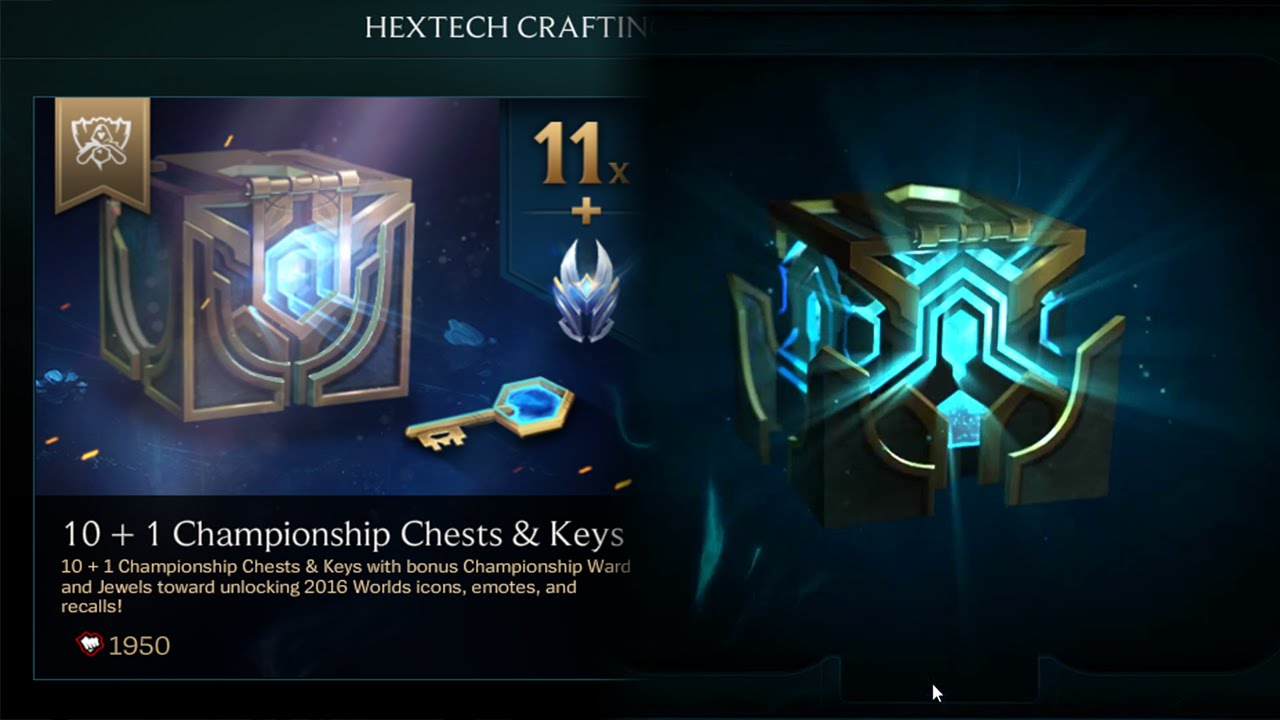 lol how to get a hextech chest