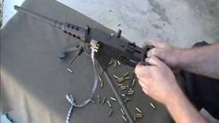 miniature machinegun M2HB 17HMR rimfire beltfed by Lakeside Machine