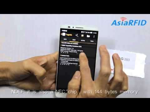 NTAG203 NFC chip on Taginfo