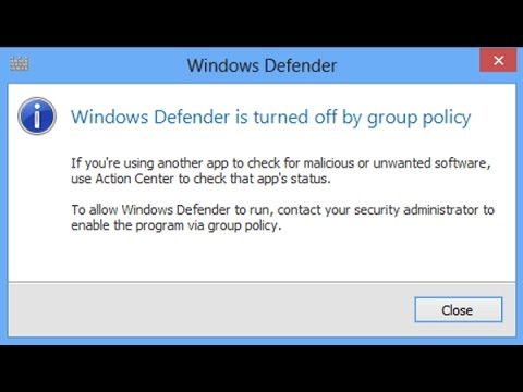 windows 10 cant enable windows defender