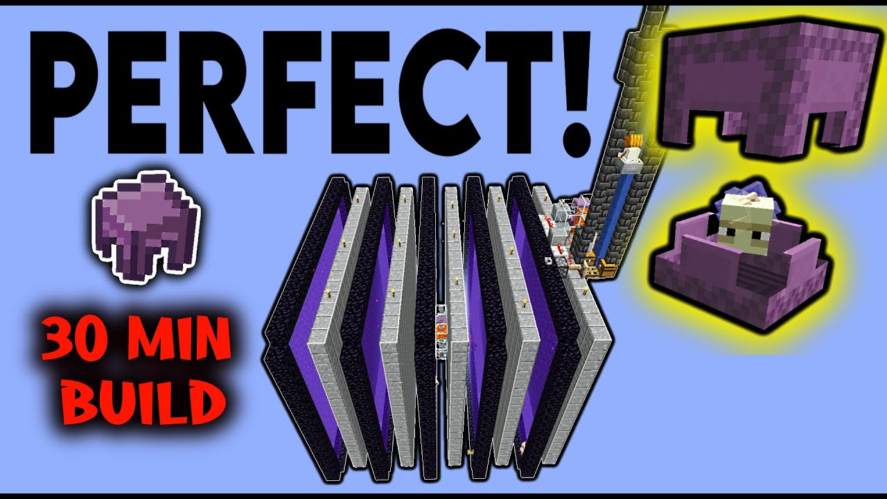 PERFECT Shulker Shell Farm! (30min build) + TUTORIAL [300k Sub Special]