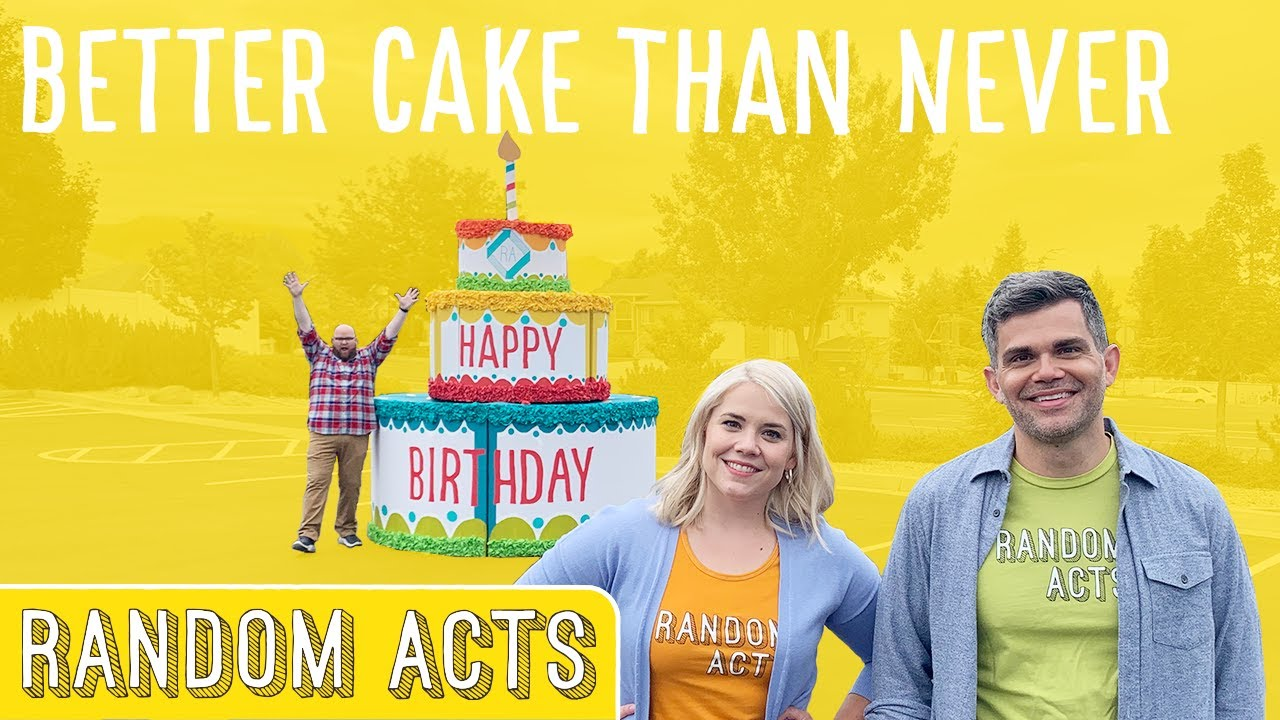 10 Birthday Surprises, One GIANT Cake! - Random Acts