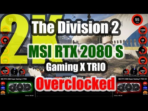 The Division 2 (2K) - MSI RTX 2080 SUPER Gaming X TRIO Overclocked