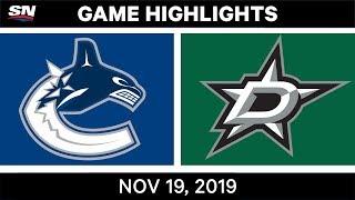 NHL Highlights   Canucks vs. Stars – Nov. 19, 2019