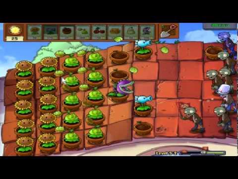 Plants vs zombies (Trồng cây bắn zombie) - Cấp độ 5-2 (Game Việt Hóa)