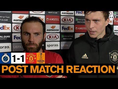 Solskjaer, Mata & Lindelof react to draw | Club Brugge 1-1 Manchester United | Europa League