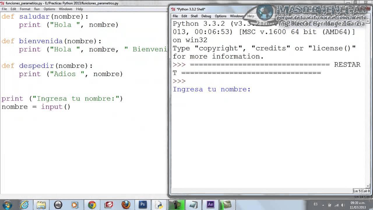 23 - Cómo Crear y llamar Funciones con Parámetros (Python) - YouTube