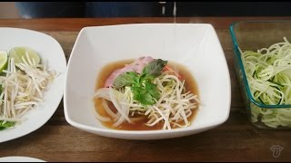 #VEGGED Episode 4 | Chef Leah Cohen Phở Zucchini Noodles with Veggie Bullet