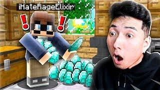 I Caught The RAGEELIXIR HATER Stealing My DIAMONDS in Minecraft!