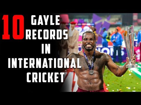 10 GAYLE RECORDS IN INTERNATIONAL CRICKET | A TRIBUTE TO CHRIS GAYLE