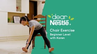 10-minute workouts – Chair Exercises Beginner's Level